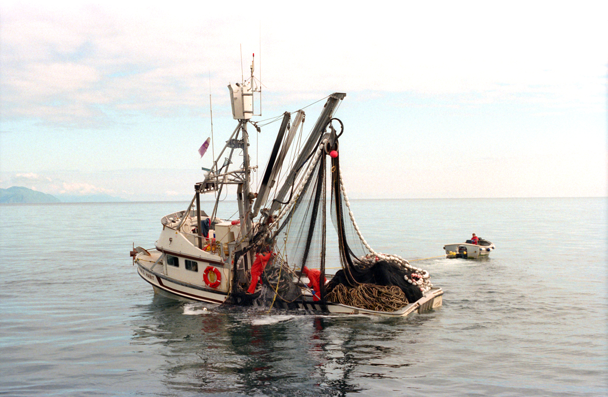 Salmon seiner, the F/V Monk\'s Habit, fishing off Kodiak Island, Alaska. (© copyright Karen Ducey)