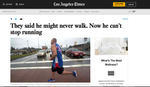 They said he might never walk. Now he can't stop running. Photos for the Los Angeles Times.  February 15, 2017.