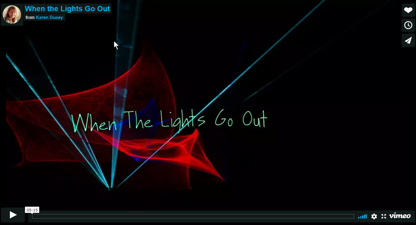 When the Lights Go Out, 2011, a documentary short directed by Karen Ducey and screened at Seattle International Film Festival.
