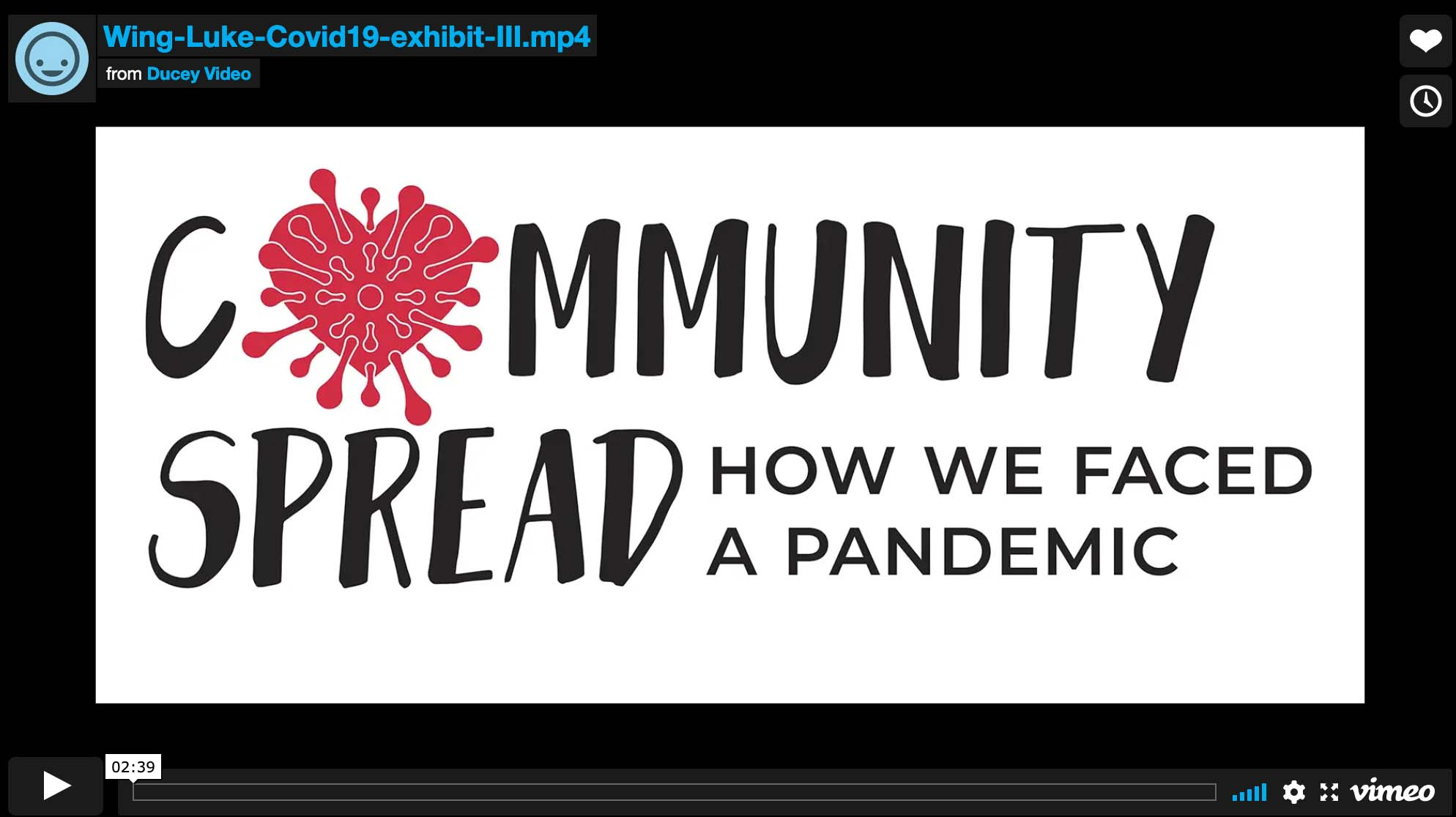 Promo for the Wing Luke Museum of the Asian Pacific American Experience for their exhibit Community Spread: How We Faced a Pandemic. Director, Cinematographer, Video Editor