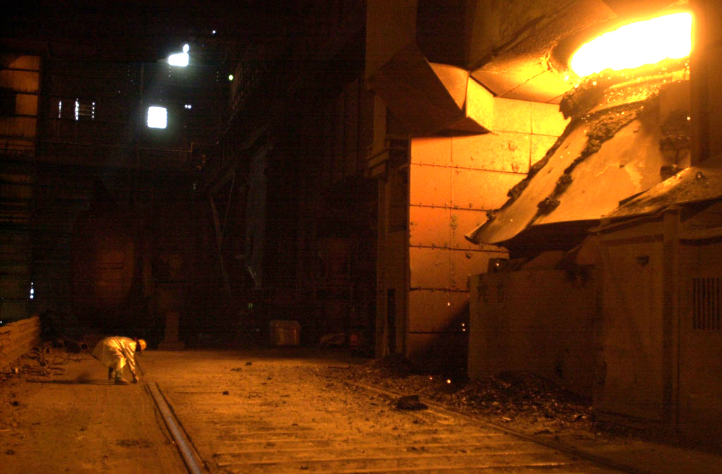 U.S. Steel plant in Gary, Indiana. (© copyright Karen Ducey)