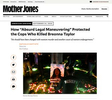 """{quote}How """"Absurd Legal Maneuvering"""" Protected the Cops Who Killed Breonna Taylor{quote}, photo for ZUMA Press published in Mother Jones, September 24, 2020"""