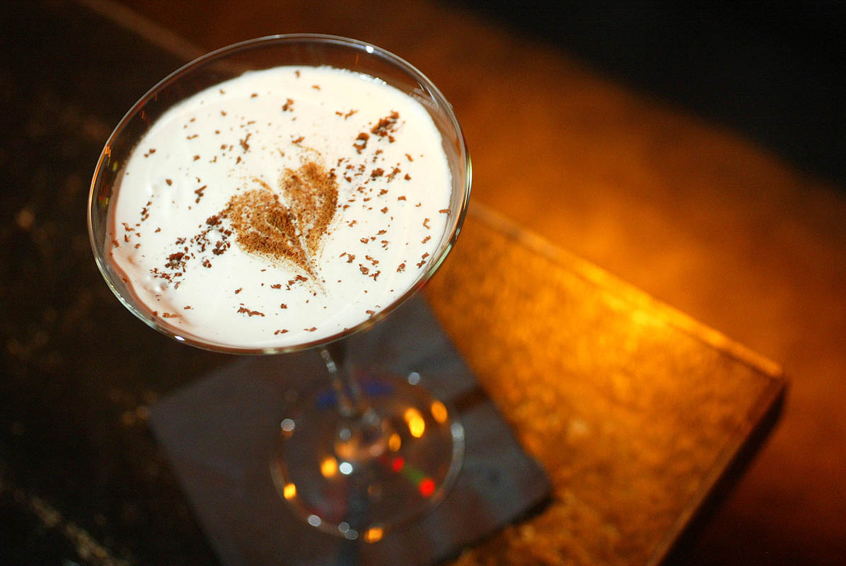 A Playboy Martini at Tini Bigs (with vodka, coffee liquor, and heavy cream) is one of the Seattle P-I's top 10 drinks of the year. (PI photo/Karen Ducey)