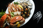 A seafood and shellfish platter made up at Oceanaire in Seattle,WA  (© copyright Karen Ducey)