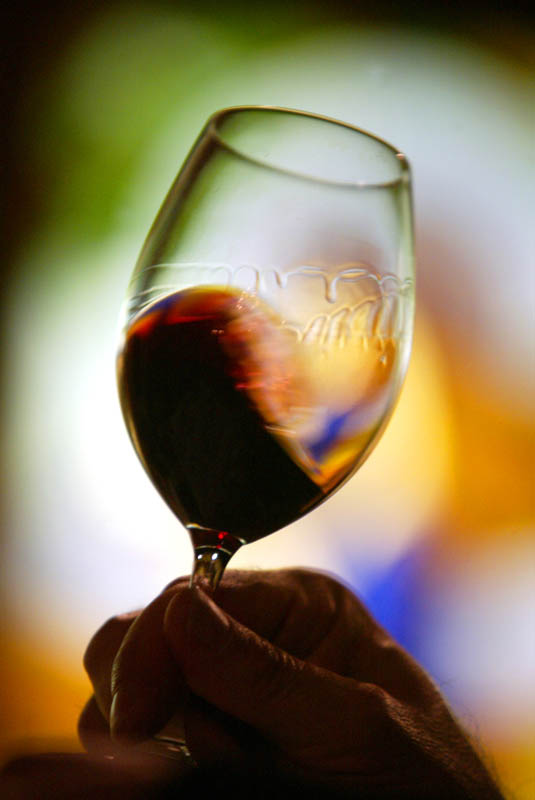 Wine at the Chateau St. Michelle Winery in Woodinville, WA. (© copyright Karen Ducey)