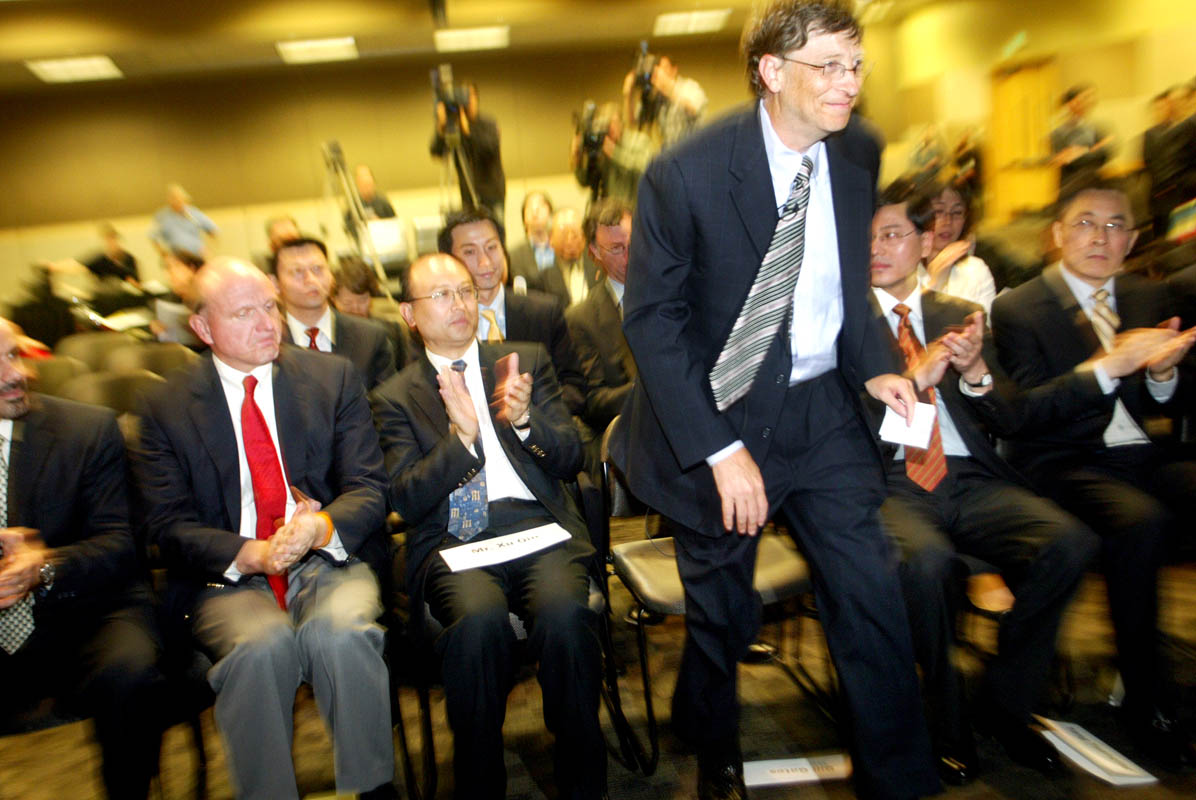 Bill Gates, CEO of Microsoft in Seattle. (© copyright Karen Ducey)