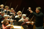 Conductor Mikhail Pletnev leads the Russian National Orchestra with the Seattle Symphony through Tchaikovsky's symphony No. 5 in E Minor, Op. 64 at Benoroya Hall in Seattle on March 29, 2006. 