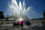 Seattle Center Fountain. (© copyright Karen Ducey)