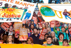 Hundreds rally during the Peopleís Climate March in Seattle, Wash. on October 14, 2015. (photo © Karen Ducey for the Sierra Club)