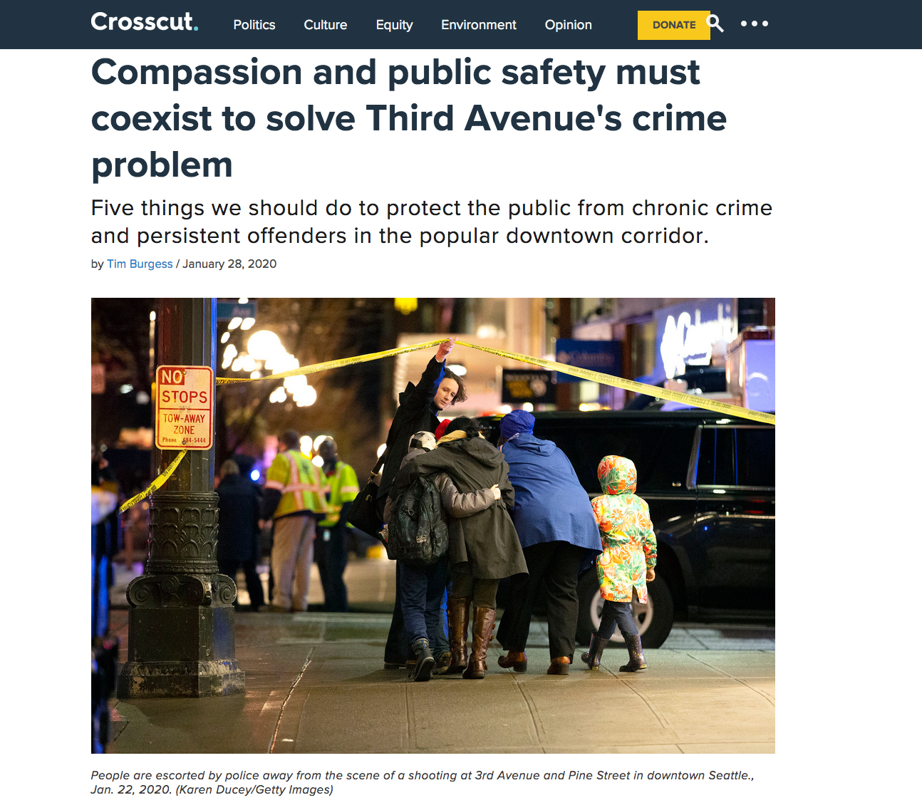 Compassion and public safety must coexist to solve Third Avenue's crime problem, Crosscut, January 28, 2020