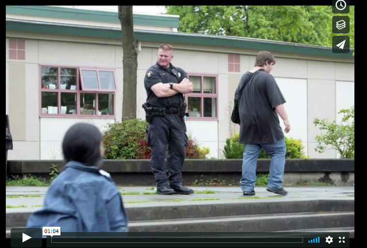 King County Deputy Stephen Beets, the Evergreen High School resource officer, in White Center, Seattle, Washington, addresses the issue of teens with guns as part of the six-part multimedia series {quote}One Fatal Shot{quote} photographed, recorded and produced by Karen Ducey 2008, published in the Seattle Post-Intelligencer on September 12, 2008. The story followed the Miller-Jantoc family for one year after two of the teenage brothers, Michael and Jordan, were playing with a gun in the family home. Tragically the gun went off and one brother was left dead and the other faced going to jail. This story follows the family as they deal with the loss of one son and brother while trying to forgive the other.