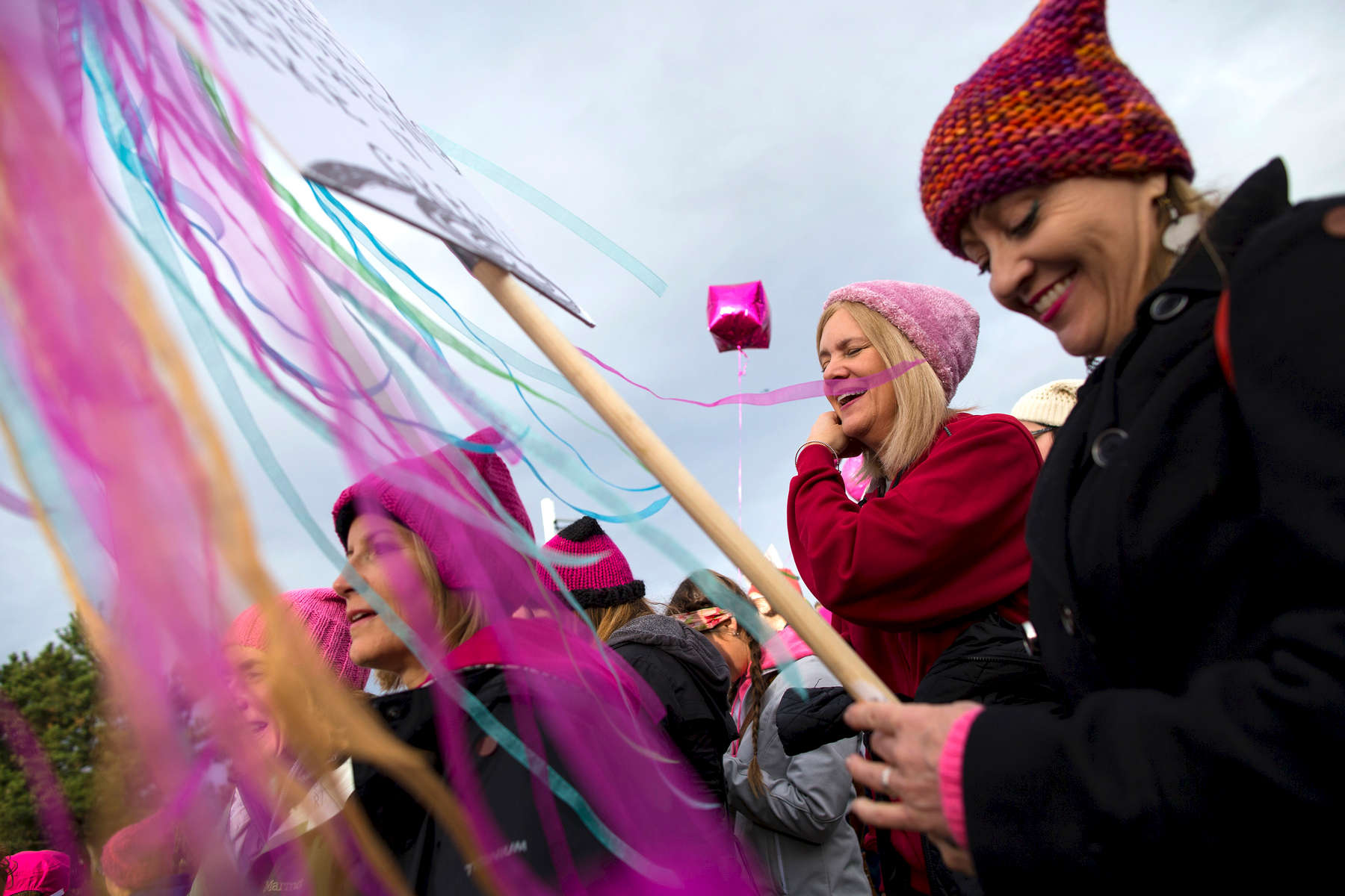 SEATTLE, WA - JANUARY 21: Thousands participate in a rally at Judkin's Park prior to the Womxn's March on Seattle a day after the inauguration of President Donald Trump on January 21, 2017 in Seattle, Washington. Women's marches were held around the country in protest of the newly elected president and in support of human rights and women's rights. 60,000 people were expected to attend. (Photo by Karen Ducey/Getty Images) SEATTLE, WA - MARCH 08: Seattle City Councilmember Kshama Sawant and Socialist Students USA host a rally in honor of International Women's Day, to stand up for reproductive rights and economic equality for women at Westlake Center on March 8, 2017 in Seattle, United States. (Photo by Karen Ducey/Getty Images)