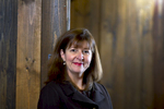 Mary Holmes, Chief Marketing Officer, of the Zino Society photographed in Seattle, Wash. on March 24, 2012. The ZINO Society is a community of angel investors, entrepreneurs and connectors who propel businesses to succeed through active angel investing and mentoring. They have facilitated over $20m in angel funding. (© Karen Ducey/ karenducey.com)