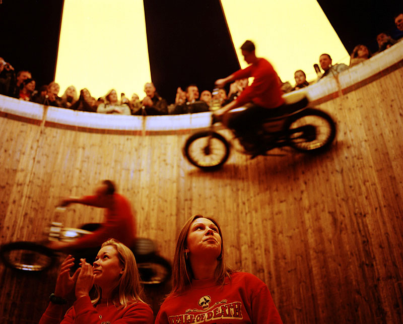 Wall of Death, Skegness, UK