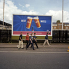 A group of lads make their way towards the Great British Beer Festival at London's Olympia. August 2001