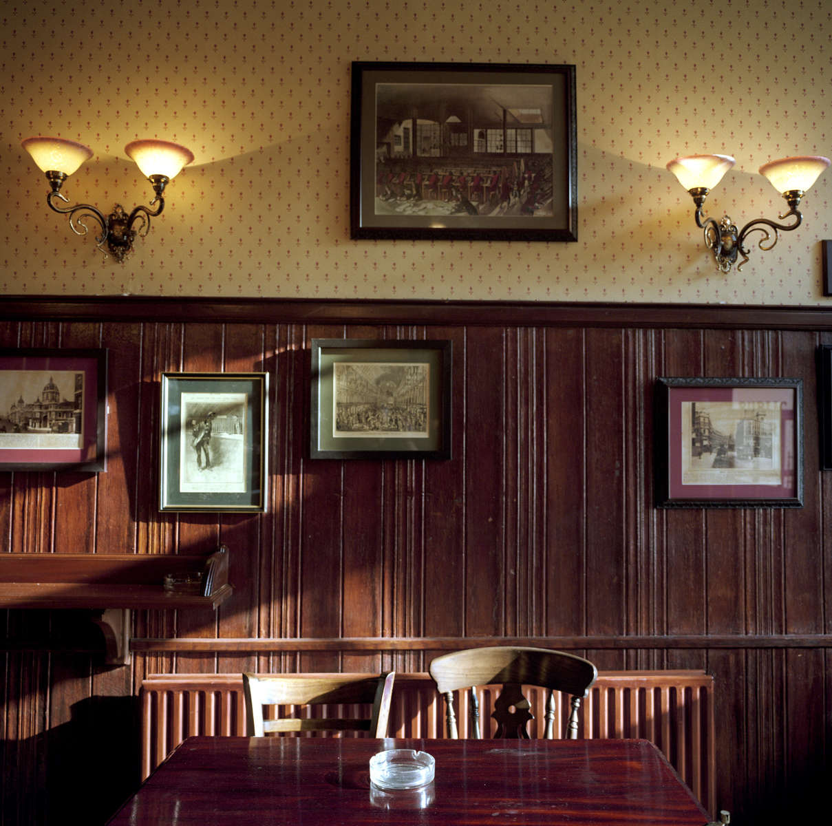 The back room of the Penny Black pub, London, popular with postal workers from the nearby Mount Pleasant Mail Centre. March 2001
