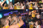 20:49 A young woman is administered some alcohol by Party Hard bar crawl staff at Ice Lounge, Ayia Napa, Cyprus.
