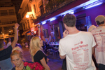 02:16 A British woman flashes her breasts in front of tourists on the Invasion Ibiza bar crawl in the West End area of San Antonio, Ibiza. The fine for shouting in the street, especially at night and not respecting the rest of others is up to €750.