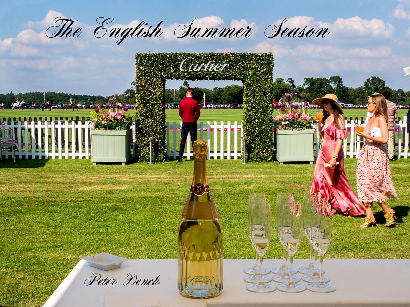 VIP guests socialise in the Cartier marquee.The 2017 Cartier Queen's Cup Final was played at the Guards Polo Club located in Windsor Great Park.