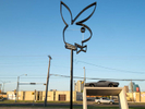 A Playboy Bunny sign in a derelict plot off Market Center Boulevard in Dallas.Dallas is a major city in Texas and is the largest urban center of the fourth most populous metropolitan area in the United States. The city ranks ninth in the U.S. and third in Texas after Houston and San Antonio. The city's prominence arose from its historical importance as a center for the oil and cotton industries, and its position along numerous railroad lines.For two weeks in the summer of 2015, photographer Peter Dench visited Dallas to document the metroplex in his epic reportage, DENCH DOES DALLAS.Photographed using an Olympus E-M5 Mark II©Peter Dench/Getty Images Reportage