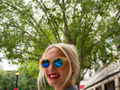 Patriotic sunglasses and lipstick worn by a woman on her way to work in Southlake.Southlake is an affluent city located north-west of Dallas in the U.S state of Texas with a population of arond 26,5700. Southlake was named in 2014 as one of TIME magazines top 10 richest towns in America and is known for public schools, Southlake Town Square, its wealth, Gateway Church and Carroll High School's 8-time state champion football team.Dallas is a major city in Texas and is the largest urban center of the fourth most populous metropolitan area in the United States. The city ranks ninth in the U.S. and third in Texas after Houston and San Antonio. The city's prominence arose from its historical importance as a center for the oil and cotton industries, and its position along numerous railroad lines.For two weeks in the summer of 2015, photographer Peter Dench visited Dallas to document the metroplex in his epic reportage, DENCH DOES DALLAS.Photographed using an Olympus E-M5 Mark II©Peter Dench/Getty Images Reportage