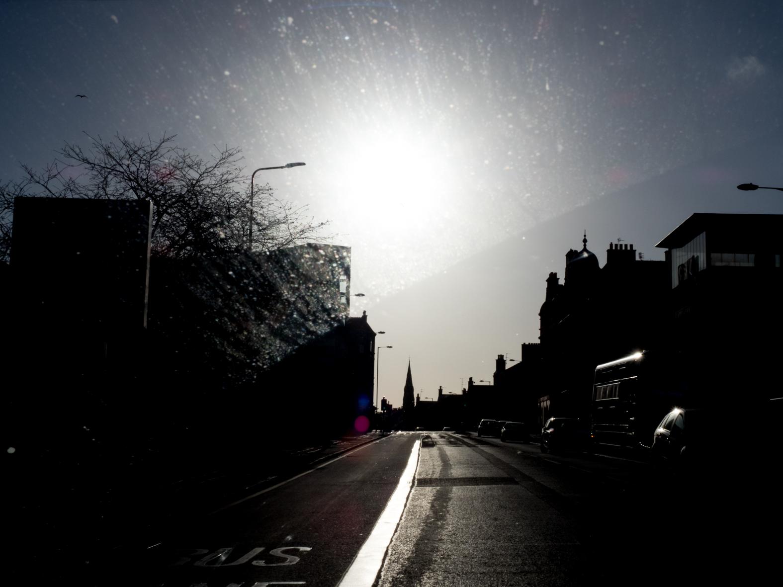The A1 East towards Edinburgh where it terminates.
