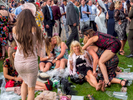 Less than lady like behaviour on Ladies' Day at Epsom.Ladies' Day is traditionally held on the first Friday of June, a multitude of ladies and gents head to Epsom Downs Racecourse to experience a day full of high octane racing, music, glamour and fashion.