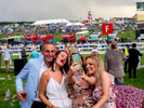 Friends take a selfie on a visit to Epsom.Ladies' Day is traditionally held on the first Friday of June, a multitude of ladies and gents head to Epsom Downs Racecourse to experience a day full of high octane racing, music, glamour and fashion.
