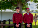 Cartier employees wait to open car doors for visitors to the prestigious VIP marquee.The 2017 Cartier Queen's Cup Final was played at the Guards Polo Club located in Windsor Great Park.