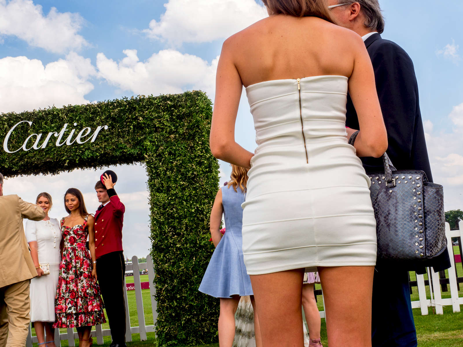 VIP gueats socialise in the Cartier marquee.The 2017 Cartier Queen's Cup Final was played at the Guards Polo Club located in Windsor Great Park.