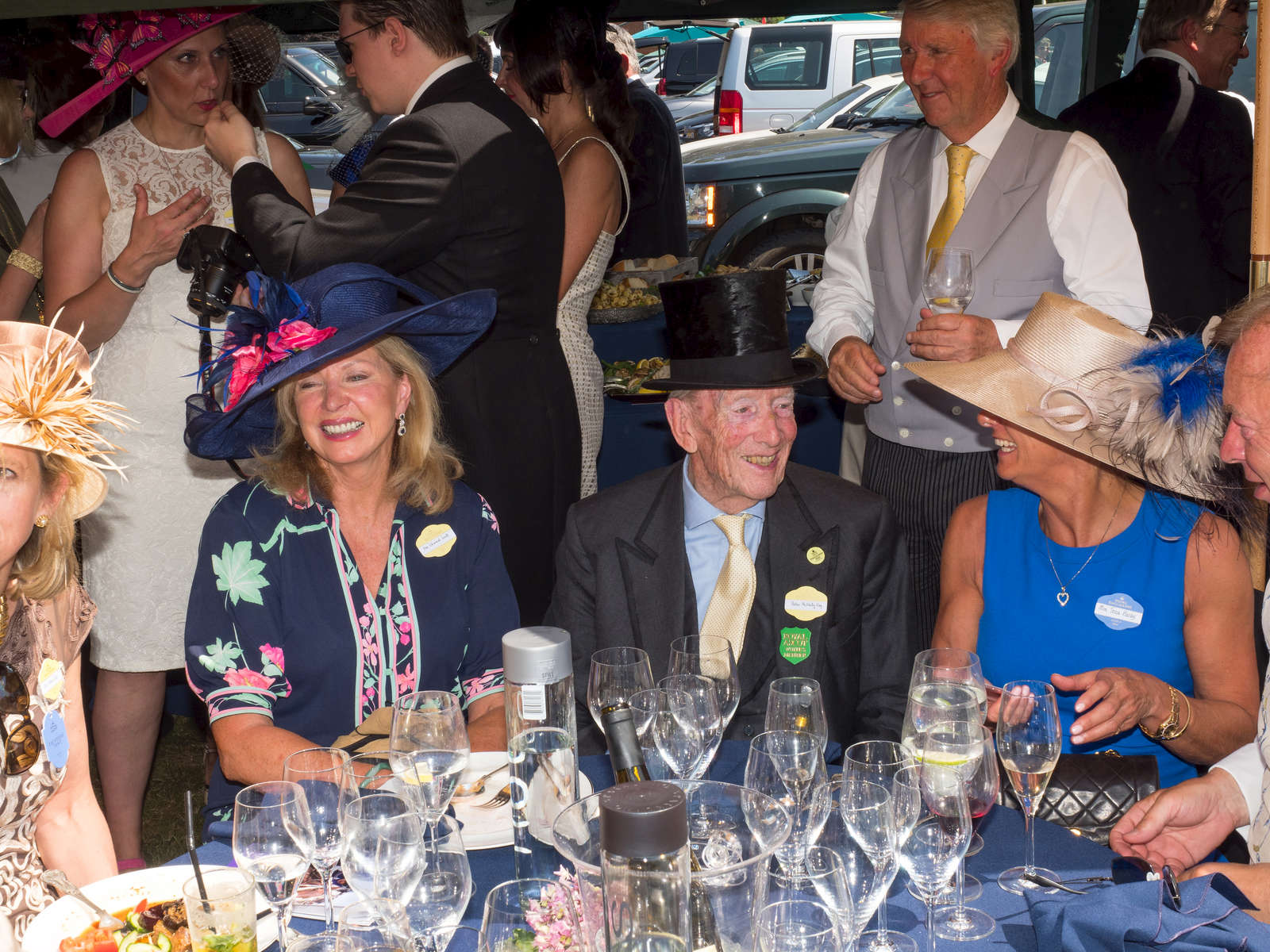 Peter McNally Esq at a champagne luncheon prior to the Royal Ascot meting in the No 1 Car Park for guests of George & Tatiana Piskov & Liz Brewer.One of Britain's most well-known racecourses, Ascot holds a special week of races in June each year called Royal Ascot, attended by The Queen. The week has become Britain's most popular race meeting, welcoming around 300,000 visitors over five days, all dressed up in their finest clothes and hats.