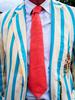 A man wearing a Leander Club tie and Cambridge University Lightweight Rowing Club blazer at the Henley Royal Regatta, a rowing event held annually on the River Thames by the town of Henley-on-Thames, England. It was established on 26 March 1839.
