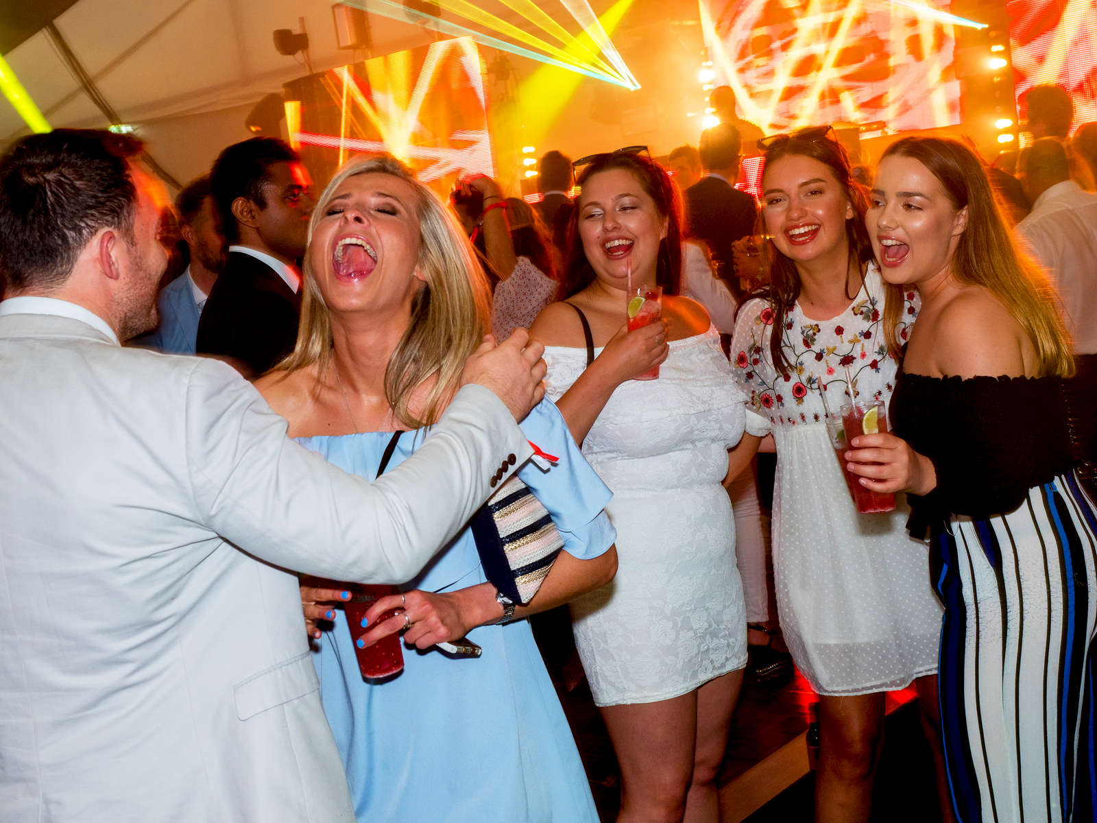 Revellers at a party hosted by the Chinawhite nightclub at Henley.Henley Royal Regatta is a rowing event held annually on the River Thames by the town of Henley-on-Thames, England. It was established on 26 March 1839.