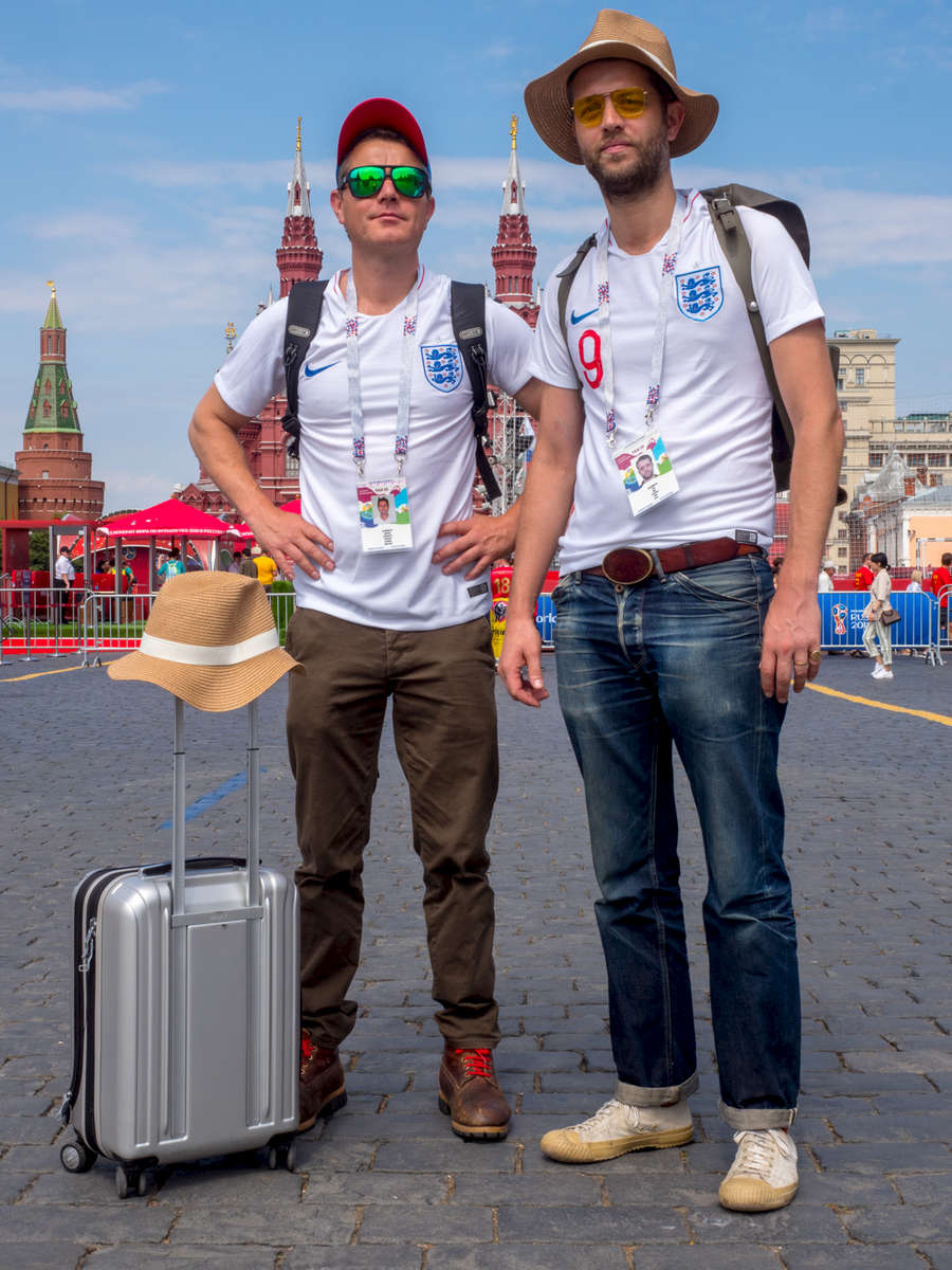 England fans and brothers Dearden and Robin Jameson spend some time in Mocow's Red Square before catching a train to Nizhny Gorod for the group match versus Panama. The 21st FIFA World Cup football tournament took place in Russia in 2018. It was the first World Cup to be held in Eastern Europe and the eleventh time that it has been held in Europe. For the first time the tournament took place on two continents – Europe and Asia. All but two of the stadium venues were in European Russia.