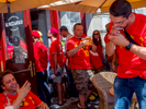 Belgium and Tunisian fans outside a bar in central Moscow ahead of their group match against each other at the Spartak Stadium. The 21st FIFA World Cup football tournament took place in Russia in 2018. It was the first World Cup to be held in Eastern Europe and the eleventh time that it has been held in Europe. For the first time the tournament took place on two continents – Europe and Asia. All but two of the stadium venues were in European Russia.