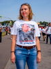 A woman with a portrait of Russian president Vladimir Putin stood outside the Spartak Stadium. The 21st FIFA World Cup football tournament took place in Russia in 2018. It was the first World Cup to be held in Eastern Europe and the eleventh time that it has been held in Europe. For the first time the tournament took place on two continents – Europe and Asia. All but two of the stadium venues were in European Russia.