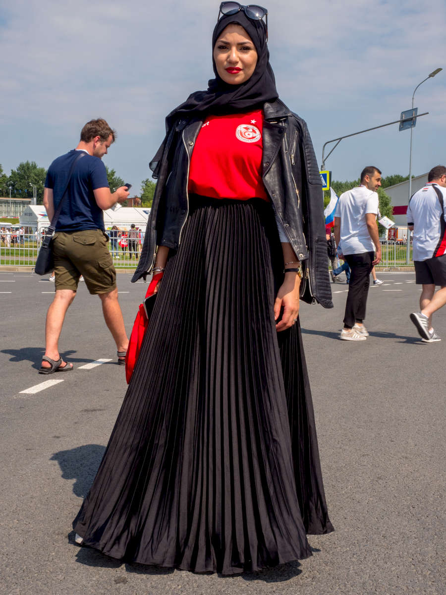A Tunisain fan at the Spartak Stadium in Moscow ahead of heir group match against Belgium. The 21st FIFA World Cup football tournament took place in Russia in 2018. It was the first World Cup to be held in Eastern Europe and the eleventh time that it has been held in Europe. For the first time the tournament took place on two continents – Europe and Asia. All but two of the stadium venues were in European Russia.