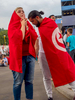 Tunisian fans watch their team in action on a big screen. The FIFA Fan Fest located at Vorobyovy Gory (Sparrow Hills) Moscow, has a venue Capacity of 25,000. The site provides a spectacular view down the hill, directly towards Luzhniki Stadium and Moscow City.The 21st FIFA World Cup football tournament took place in Russia in 2018. It was the first World Cup to be held in Eastern Europe and the eleventh time that it has been held in Europe. For the first time the tournament took place on two continents – Europe and Asia. All but two of the stadium venues were in European Russia.