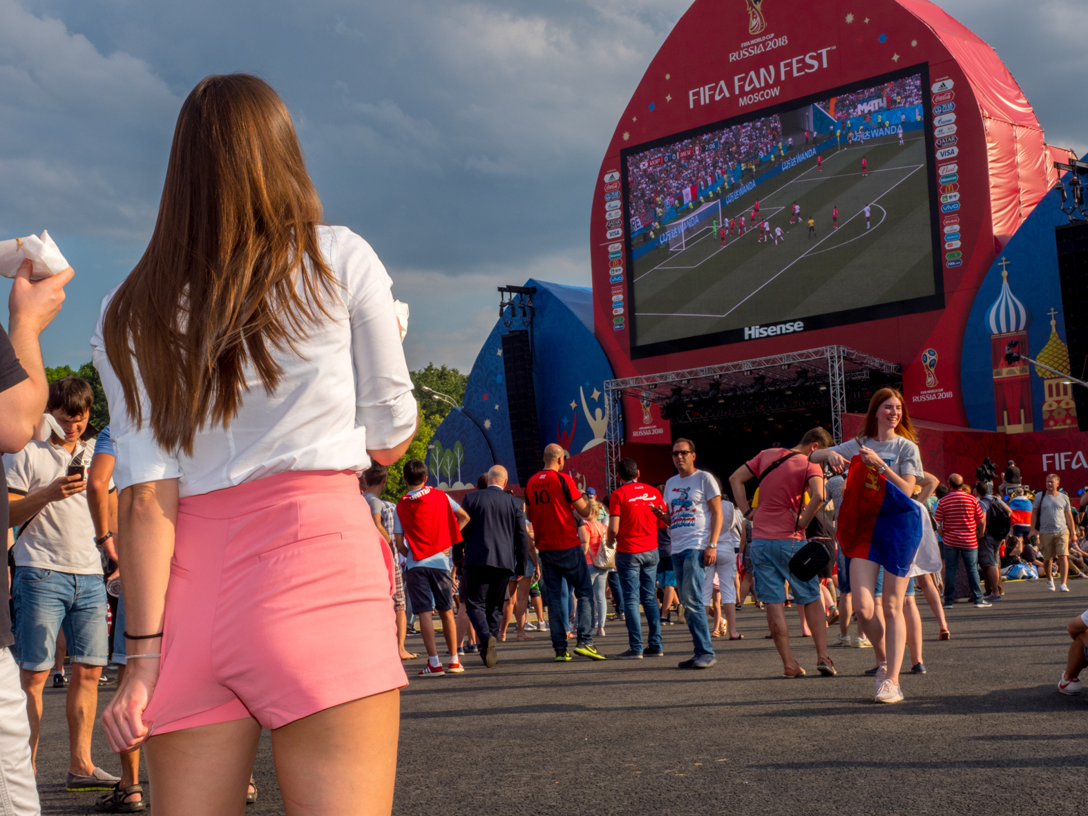 The FIFA Fan Fest located at Vorobyovy Gory (Sparrow Hills) Moscow, has a venue Capacity of 25,000. The site provides a spectacular view down the hill, directly towards Luzhniki Stadium and Moscow City. The 21st FIFA World Cup football tournament took place in Russia in 2018. It was the first World Cup to be held in Eastern Europe and the eleventh time that it has been held in Europe. For the first time the tournament took place on two continents – Europe and Asia. All but two of the stadium venues were in European Russia.