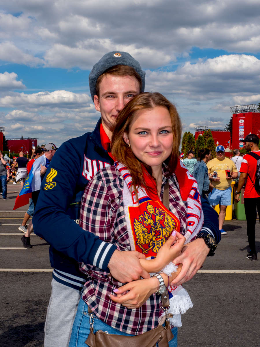 Russian fans at the Moscow FIFA Fan Fest located at Vorobyovy Gory (Sparrow Hills) with a venue Capacity of 25,000. The site provides a spectacular view down the hill, directly towards Luzhniki Stadium and Moscow City.The 21st FIFA World Cup football tournament took place in Russia in 2018. It was the first World Cup to be held in Eastern Europe and the eleventh time that it has been held in Europe. For the first time the tournament took place on two continents – Europe and Asia. All but two of the stadium venues were in European Russia.