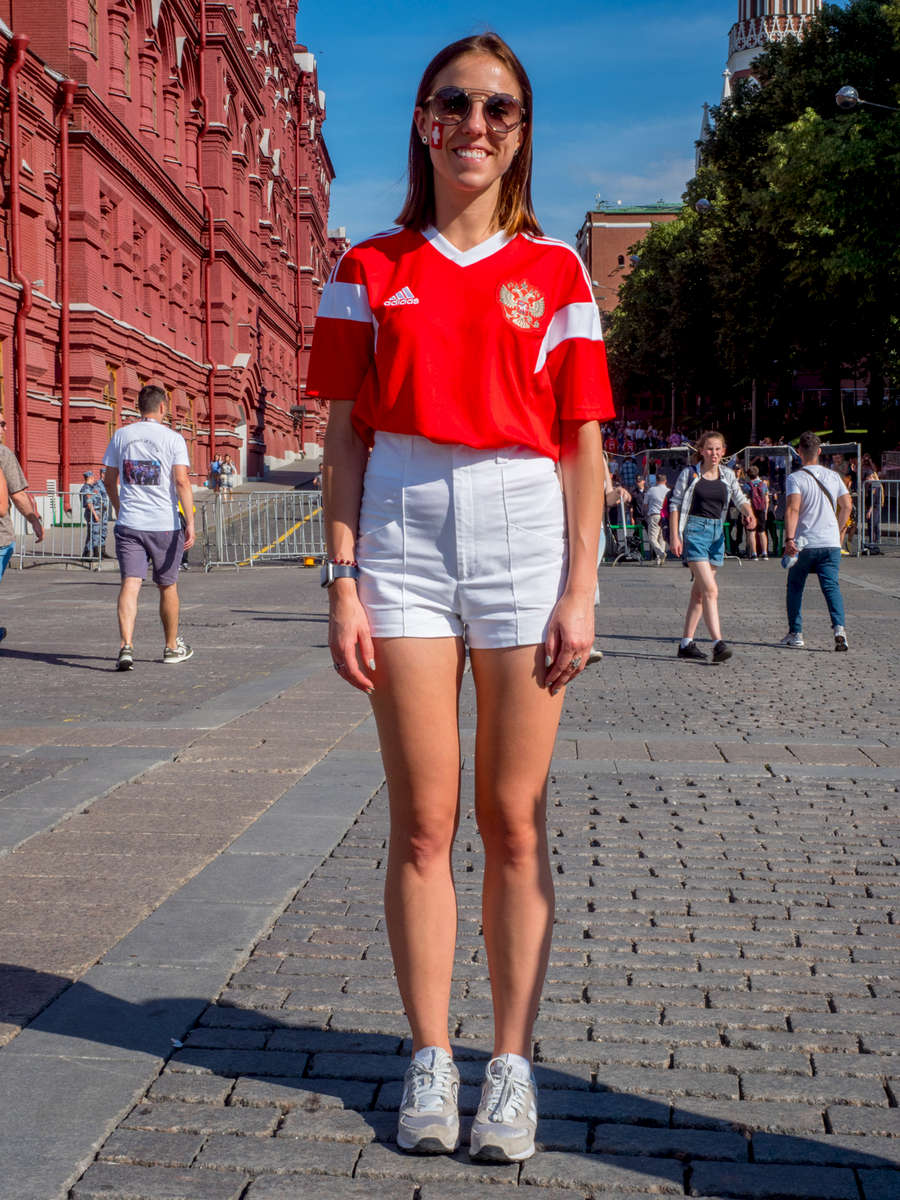 A Russian woman wearing a Swiss team shirt in central Moscow. The 21st FIFA World Cup football tournament took place in Russia in 2018. It was the first World Cup to be held in Eastern Europe and the eleventh time that it has been held in Europe. For the first time the tournament took place on two continents – Europe and Asia. All but two of the stadium venues were in European Russia.