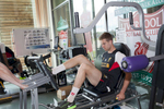 Liverpool FC midfielder Jordan Henderson works out in the gym at Melwood.Melwood is the Liverpool FC training ground, located in the West Derby area of Liverpool. It is seperate from the Liverpool Academy, which is based in Kirkby.Melwood was redeveloped in the early 2000′s with large input from then-manager Gerard Houllier and now features some of the best facilities in Europe. It has been the club's training ground since the fifties and was previously transformed into a top class facility by Bill Shankly.Facilities include sythetic pitches, rehabilitation rooms, press and meeting rooms, gymnasium, swimming pool, restaurant and recreational facilities.