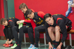 Liverpool FC players boot up before training at Melwood.Melwood is the Liverpool FC training ground, located in the West Derby area of Liverpool. It is seperate from the Liverpool Academy, which is based in Kirkby.Melwood was redeveloped in the early 2000′s with large input from then-manager Gerard Houllier and now features some of the best facilities in Europe. It has been the club's training ground since the fifties and was previously transformed into a top class facility by Bill Shankly.Facilities include sythetic pitches, rehabilitation rooms, press and meeting rooms, gymnasium, swimming pool, restaurant and recreational facilities.