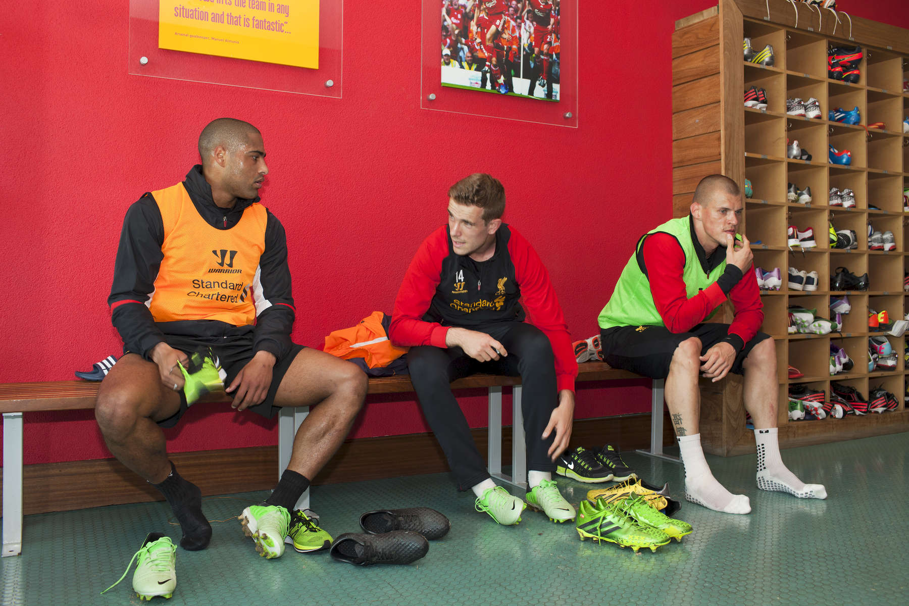 Liverpool FC players (from left) Glen Johnson, Jordan Henderson and Martin Skrtel after training at Melwood.Melwood is the Liverpool FC training ground, located in the West Derby area of Liverpool. It is seperate from the Liverpool Academy, which is based in Kirkby.Melwood was redeveloped in the early 2000′s with large input from then-manager Gerard Houllier and now features some of the best facilities in Europe. It has been the club's training ground since the fifties and was previously transformed into a top class facility by Bill Shankly.Facilities include sythetic pitches, rehabilitation rooms, press and meeting rooms, gymnasium, swimming pool, restaurant and recreational facilities.