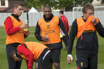 Standing from left: Liverpool FC players after training at Melwood Jordan Henderson, Glen Johnson and Lucas.Melwood is the Liverpool FC training ground, located in the West Derby area of Liverpool. It is seperate from the Liverpool Academy, which is based in Kirkby.Melwood was redeveloped in the early 2000′s with large input from then-manager Gerard Houllier and now features some of the best facilities in Europe. It has been the club's training ground since the fifties and was previously transformed into a top class facility by Bill Shankly.Facilities include sythetic pitches, rehabilitation rooms, press and meeting rooms, gymnasium, swimming pool, restaurant and recreational facilities.