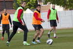 Lucas (far left) Jordan Henderson (second from left) and Jonjo Shelvey (far right) during training at Melwood.Melwood is the Liverpool FC training ground, located in the West Derby area of Liverpool. It is seperate from the Liverpool Academy, which is based in Kirkby.Melwood was redeveloped in the early 2000′s with large input from then-manager Gerard Houllier and now features some of the best facilities in Europe. It has been the club's training ground since the fifties and was previously transformed into a top class facility by Bill Shankly.Facilities include sythetic pitches, rehabilitation rooms, press and meeting rooms, gymnasium, swimming pool, restaurant and recreational facilities.
