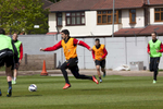 Liverpool FC striker Luis Suarez during training for the cllub at Melwood.Melwood is the Liverpool FC training ground, located in the West Derby area of Liverpool. It is seperate from the Liverpool Academy, which is based in Kirkby.Melwood was redeveloped in the early 2000′s with large input from then-manager Gerard Houllier and now features some of the best facilities in Europe. It has been the club's training ground since the fifties and was previously transformed into a top class facility by Bill Shankly.Facilities include sythetic pitches, rehabilitation rooms, press and meeting rooms, gymnasium, swimming pool, restaurant and recreational facilities.
