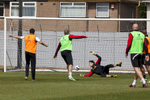 A training goal is scored against Liverpoll FC goalkeeper Brad Jones at the Melwood facility.Melwood is the Liverpool FC training ground, located in the West Derby area of Liverpool. It is seperate from the Liverpool Academy, which is based in Kirkby.Melwood was redeveloped in the early 2000′s with large input from then-manager Gerard Houllier and now features some of the best facilities in Europe. It has been the club's training ground since the fifties and was previously transformed into a top class facility by Bill Shankly.Facilities include sythetic pitches, rehabilitation rooms, press and meeting rooms, gymnasium, swimming pool, restaurant and recreational facilities.
