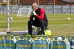 Liverpool FC goalkeeper Pepe Reina takes a break from training at Melwood.Melwood is the Liverpool FC training ground, located in the West Derby area of Liverpool. It is seperate from the Liverpool Academy, which is based in Kirkby.Melwood was redeveloped in the early 2000′s with large input from then-manager Gerard Houllier and now features some of the best facilities in Europe. It has been the club's training ground since the fifties and was previously transformed into a top class facility by Bill Shankly.Facilities include sythetic pitches, rehabilitation rooms, press and meeting rooms, gymnasium, swimming pool, restaurant and recreational facilities.