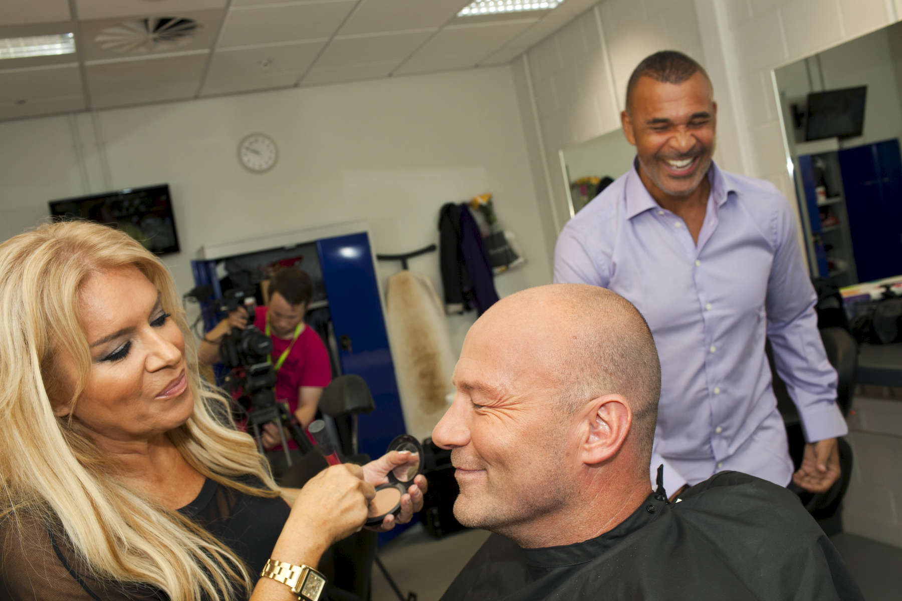 MOTD pundit Alan Shearer has make up applied before Saturdays live show.Match of the Day (often abbreviated as MOTD or MotD) is the BBC\'s main football television programme. Typically, it is shown on BBC One on Saturday evenings during the English football season, showing highlights of the day\'s matches in English football\'s top division, the Premier League. It is one of the BBC\'s longest-running shows, having been on air since 22 August 1964, though it has not always been aired regularly. The programme is broadcast from MediaCityUK in Salford Quays on the banks of the Manchester Ship Canal in Greater Manchester.Since 1999 MOTD has been presented by the former England captain Gary Lineker. Lineker is usually joined by two pundits to analyse and review the day\'s action. The former Newcastle United captain Alan Shearer is the lead pundit